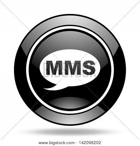 mms black glossy icon