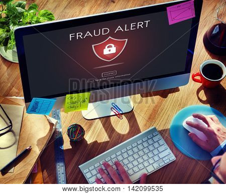 Fraud Scam Phishing Caution Deception Concept poster