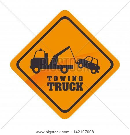tow towing sign sign symbol car truck city notice vector graphic isolated and flat illustration