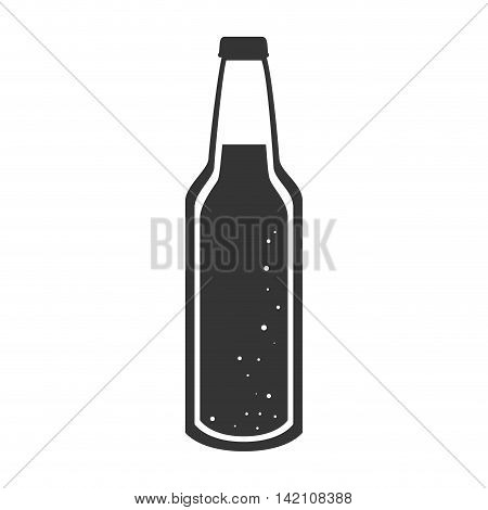 bottle soda drink liquid beer  recipient beverage cap container vector graphic isolated and flat illustration