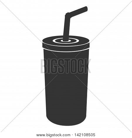 paper cup take away liquid drink fast soda vector graphic isolated and flat illustration
