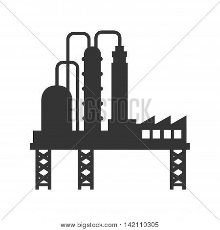 plant chemistry tower pipe engineering distillery factory structure industry vector graphic isolated and flat illustration