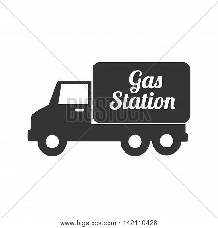 truck gas station gasoline tank container  transport vector graphic isolated and flat illustration