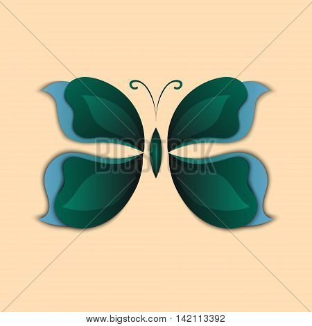 3D Paper Abstract Butterfly Colorful Shape