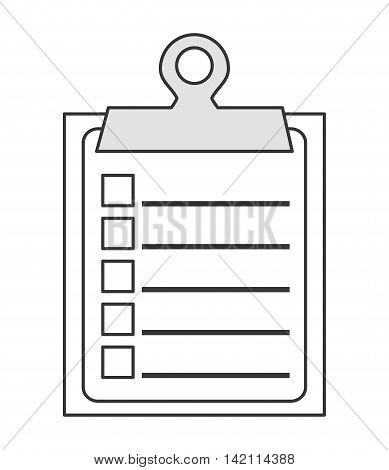 flat design clipboard with check list icon vector illustration