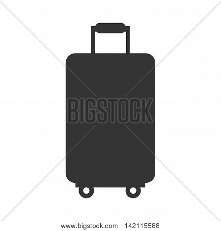 bag case travel modern baggage suitcase vacation vector graphic isolated and flat illustration