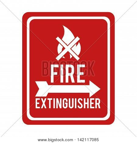 flame fire sign flammable danger prohibitted warning burn vector graphic isolated illustration