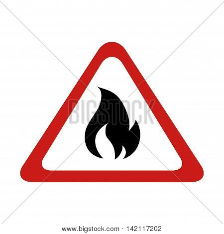 flame sign fire burn warning flaming flaming vector graphic isolated illustration