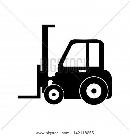 lift truck fork cargo hydraulic machine industrial vector graphic isolated illustration