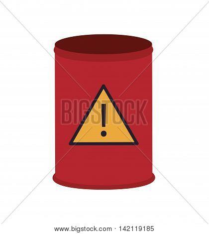 flat design toxic waste barrel icon vector illustration poster