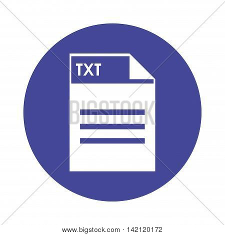 flat design TXT file icon vector illustration