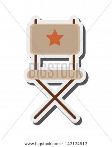 flat design director chair icon vector illustration
