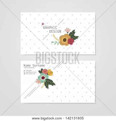 Lovely Business Card Template Design