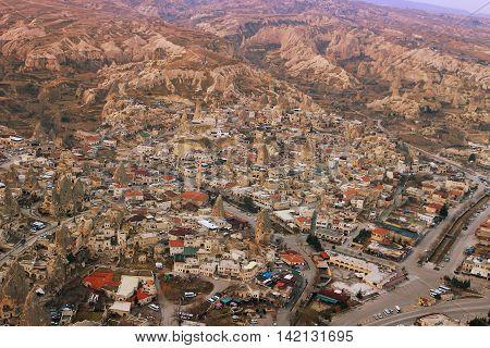 Overhead View Of Town In Cappadoccia