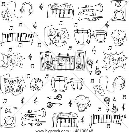 Music hand draw element vector art stock collection
