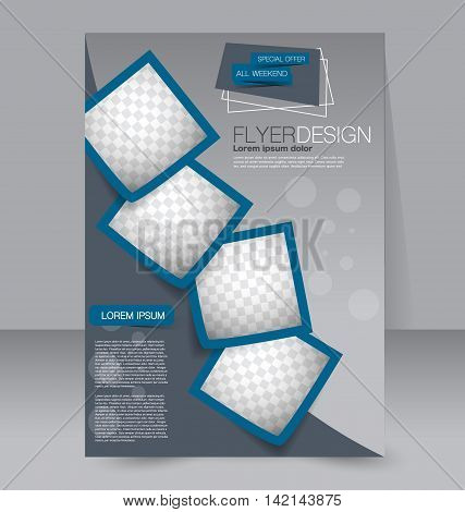 Brochure Design. Flyer Template. Editable A4 Poster For Business, Education, Presentation, Website,