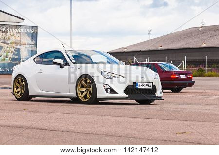 White Toyota Gt86 Sport Car
