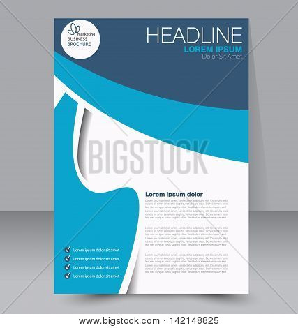 Abstract Flyer Design Background. Brochure Template. Can Be Used For Magazine Or Book Cover, Busines
