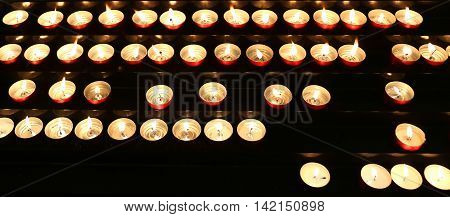 Candles Lit With Flickering Flame