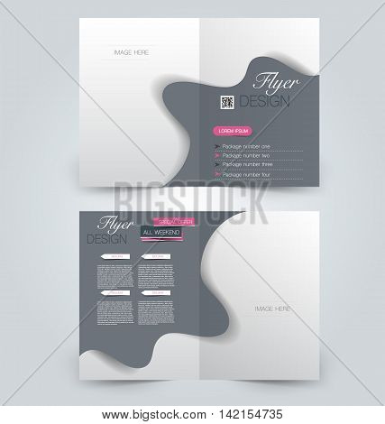 Abstract Flyer Design Background. Brochure Template. Can Be Used For Magazine Cover, Business Mockup