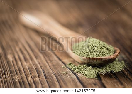 Portion Of Stevia Leaf Powder