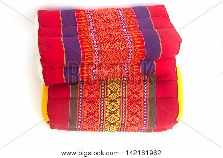 Tradition native Thai style pillow on white