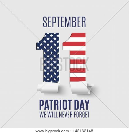 Abstract Patriot Day background. 11 September, National Day of Remembrance. Vector illustration.