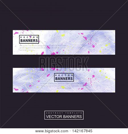 Adorable Purple Banner Template Design