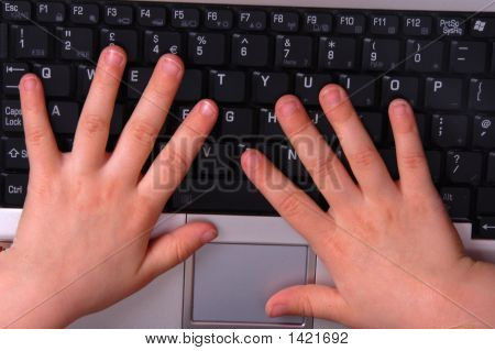 Small Hands On Keyboard