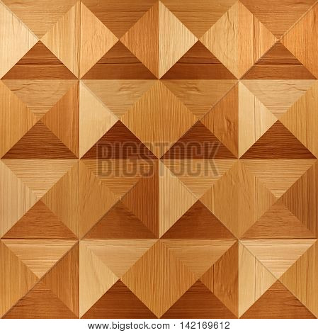 Wooden pyramids stacked for seamless background coffered paneling veneer alder