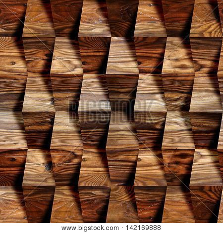 Wooden blocks stacked for seamless background cherry veneer