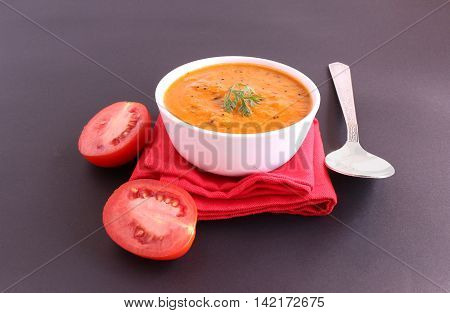 Indian food tomato curry, which is a healthy, traditional and popular side dish for items like chapati and rice.
