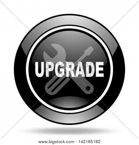 upgrade black glossy icon