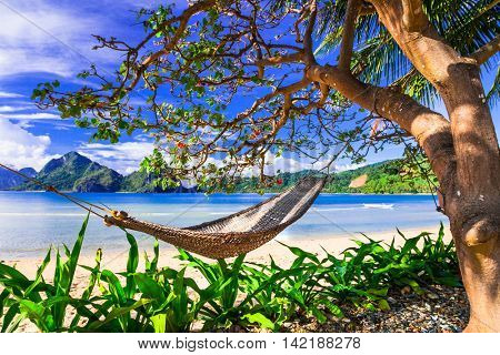 Perfect tropical holidays - relaxing in paradise islands. Philippines