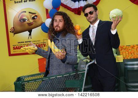 LOS ANGELES - AUG 9:  Jr Jr, Daniel Zott, Joshua Epstein at the