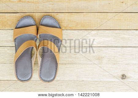 Female Shoes On Wood Background