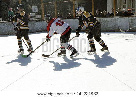 Hockey championship The Cup of Mayor Pyatigorsk. Russia Pyatigorsk 31 January 2015