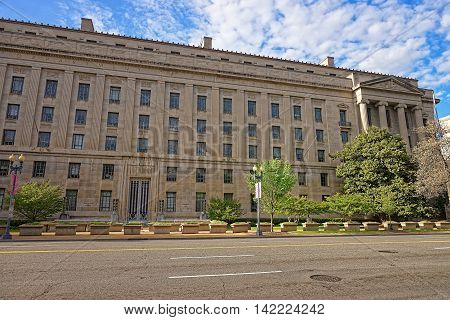 Department Of Justice Building In Washington Dc Usa