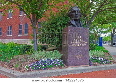 George Washington Bust In The George Washington University