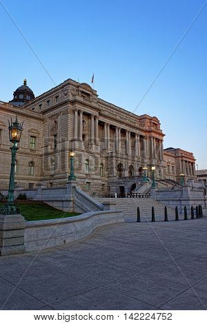 Library Of Congress Building In Washington Dc