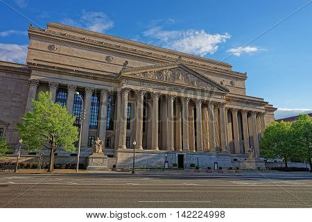 National Archives Building In Washington Dc Usa