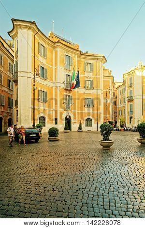 Carabinieri Art Squad In Rome Italy
