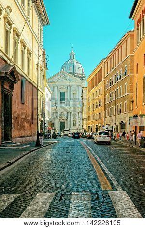 Church Of Sant Andrea Della Valle In Corso Del Rinascimento