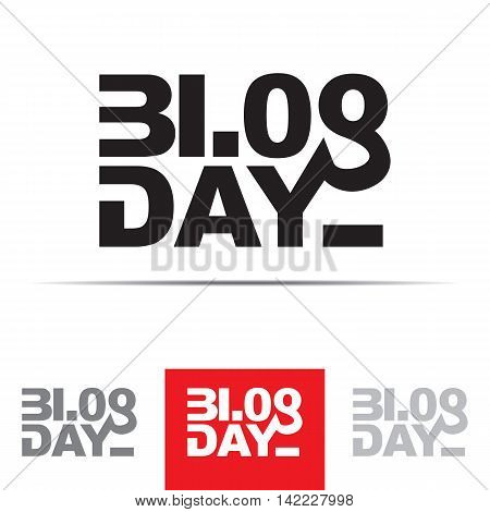 Blog Day sign. The word blog is associated with the numbers 3108 - 31st of August date of blog day. Vector illustration in eps8 format.