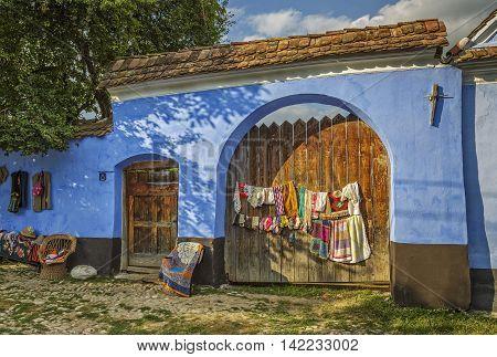 Transylvanian Village Courtyard Entrance