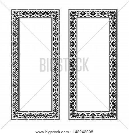 Graphical ornamental frame, decor frame. gate frame, ancient frame, swirl frame, vintage frame. wedding frame, style frame. Vector.