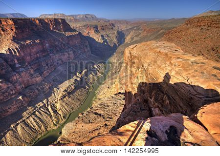 Grand Canyon view from Toroweap overlook, Arizona.