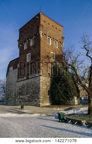 Thieves Tower Of The Wawel Castle, Krakow, Poland