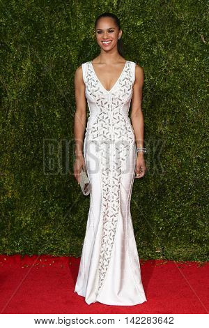 NEW YORK-JUN 7: Ballerina Misty Copeland attends American Theatre Wing's 69th Annual Tony Awards at Radio City Music Hall on June 7, 2015 in New York City.