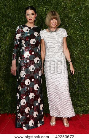 NEW YORK-JUN 7: Bee Shaffer (L) and Anna Wintour attend American Theatre Wing's 69th Annual Tony Awards at Radio City Music Hall on June 7, 2015 in New York City.